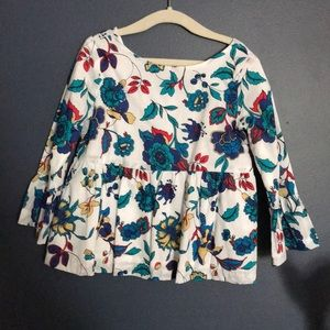 Floral multi color 3T Janie and Jack top